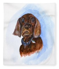 Bosely The Dog Fleece Blanket