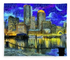 Boston 1 Fleece Blanket