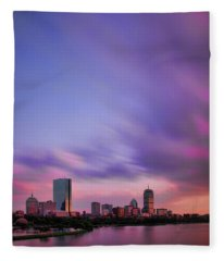 Boston Afterglow Fleece Blanket