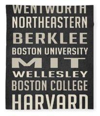 Boston Colleges Poster Fleece Blanket