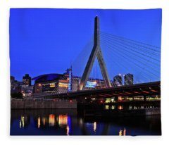 Boston Garden And Zakim Bridge Fleece Blanket