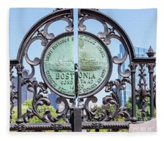 Boston Garden Gate Detail Fleece Blanket