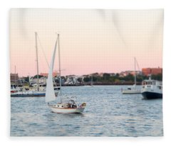 Boston Harbor View Fleece Blanket