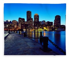 Boston Harbor Walk Fleece Blanket