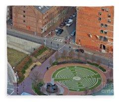 Boston Labyrinth Fleece Blanket
