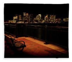 Boston Lamplight Fleece Blanket