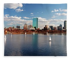 Boston On The Charles  Fleece Blanket