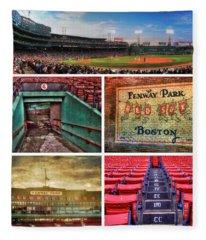 Boston Red Sox Collage - Fenway Park Fleece Blanket