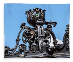 Boston Subway Station Ironwork Detail Fleece Blanket