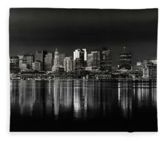 Boston Sunrise Fleece Blanket