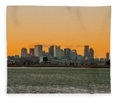 Boston Sunset Fleece Blanket