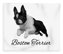 Boston Terrier Fleece Blanket