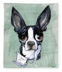 Boston Terrier - I Have No Shame Fleece Blanket