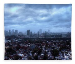 Boston Viewed From Top Of Bunker Hill Monument Fleece Blanket