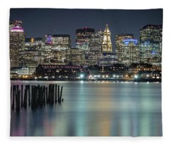 Boston's Skyline From Lopresti Park Fleece Blanket
