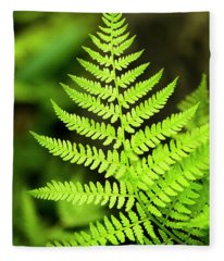 Botanical Fern Fleece Blanket
