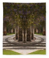 Botanical Garden Walkway Fantasy - Naples,  Florida  Fleece Blanket