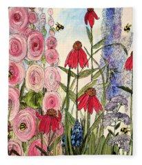 Botanical Wildflowers Fleece Blanket