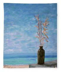 Bottle And Sea Oats Fleece Blanket