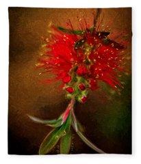 Bottle Brush Flower Fleece Blanket