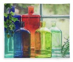 Bottles In The Window Fleece Blanket