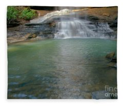 Bottom Of Falls Fleece Blanket