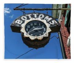 Bottoms Clock Sign Fleece Blanket