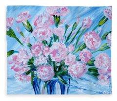 Bouguet Of Carnations.  Joyful Gift. Thank You Collection Fleece Blanket