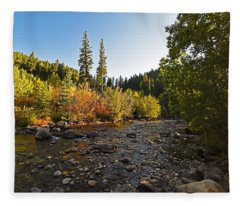 Boulder Colorado Canyon Creek Fall Foliage Fleece Blanket