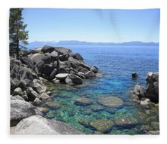 Boulder Cove On Lake Tahoe Fleece Blanket