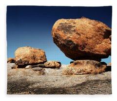 Boulder On Solid Rock Fleece Blanket