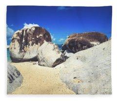 Boulders At The Baths - Virgin Gorda Fleece Blanket