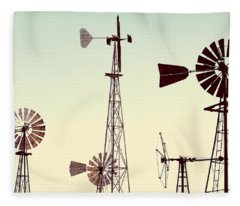 Bountiful Windmills Fleece Blanket