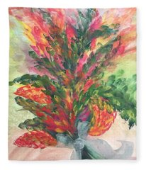 Bouquet And Ribbon Fleece Blanket