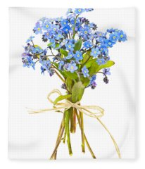 Bouquet Of Forget-me-nots Fleece Blanket