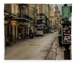 Bourbon Street By Day Fleece Blanket