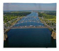 Bourne Bridge, Ma Fleece Blanket