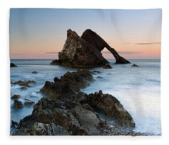 Bow Fiddle Rock At Sunset Fleece Blanket
