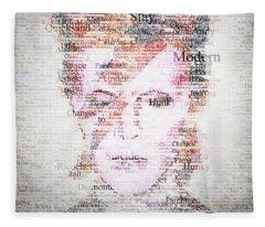 Bowie Typo Fleece Blanket