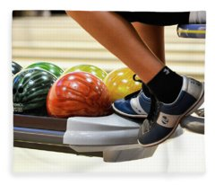 Bowling Alley Hang Out Fleece Blanket
