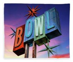 Bowling Americana Fleece Blanket