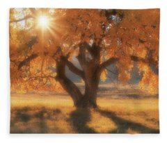 Boxelder's Autumn Tree Fleece Blanket