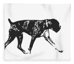 Boxer Dog Tee Fleece Blanket