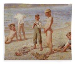 Boys Bathing Fleece Blanket