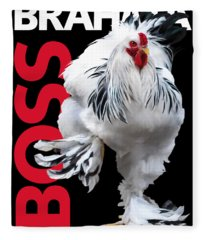 Brahma Boss T-shirt Print Fleece Blanket