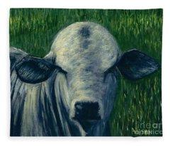 Brahma Bull  Fleece Blanket