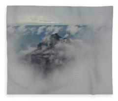 Brahma Temple In A Sea Of Clouds Fleece Blanket