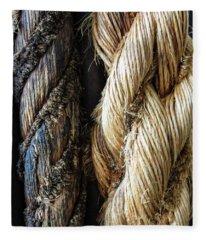 Braids Of Rope Fleece Blanket