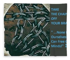 Brain Chains Fleece Blanket