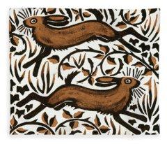 Woodland Animals Fleece Blankets